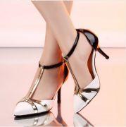 Giày cao gót quai chữ T thời trang