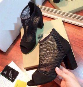 giày cao gót lưới khéo kéo sau VNXK