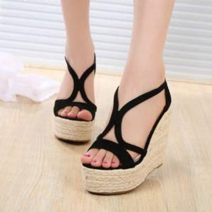 Giày sandal cói dây khóa hậu cao cấp ( Hàng Xuất Dư )