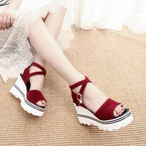 Sandal cao 2 đế cao cấp