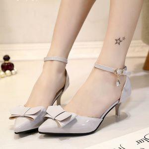Giày cao gót nơ 2 tầng