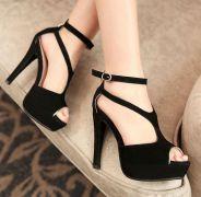 Giày cao gót khóa kéo sau hàng cao cấp