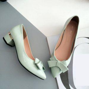 Giày nơ gót vàng