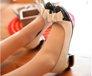 Giày Nơ Công Chúa Gót Vuông
