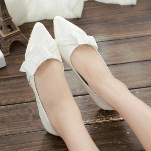 Giày búp bê tiêu thư nơ xéo xinh xắn