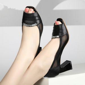 Giày da viền lưới đá cao cấp