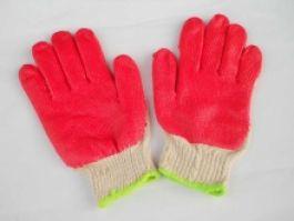 Găng tay sợi phủ sơn đỏ