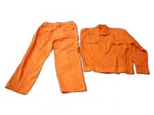 Quần áo kaki nam định màu cam điện lực