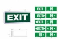 Các loại đèn Exit, đèn sự cố thoát hiểm 1 mặt 2 mặt
