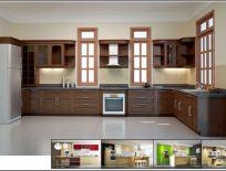 Tủ Bếp Gỗ Xoan Đào Mẫu 12
