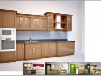 Tủ Bếp Gỗ Xoan Đào Mẫu 14