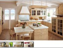 Tủ Bếp Có Bàn Đảo Thiết Kế Cổ Điển 12