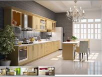 Tủ Bếp Có Bàn Đảo Thiết Kế Cổ Điển 14