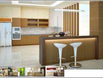 Tủ Bếp Có Quầy Bar 13