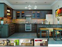 Tủ Bếp Gỗ Xoan Đào Mẫu 15
