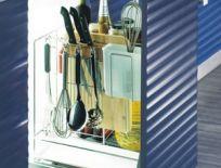 Ray gia vị inox cho tủ bếp