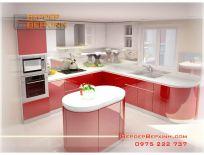 Tủ Bếp Acrylic Chống Nước Nhà Anh Dũng Quận 4 TpCHM