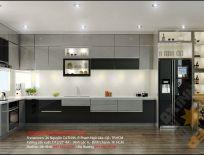 Tủ Bếp Nhựa PVC Acrylic Bếp Nhà Anh Xuân