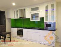 Phối Cảnh 3D Tủ Bếp Acrylic Nhà Chị Trinh - Gò Vấp TpHCM