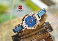 Đồng hồ nữ dây da JULIUS JA-843 (Xanh dương)