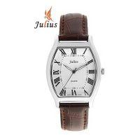 Đồng hồ nữ dây da JULIUS JU056 (Nâu Bạc) - SIZE 27