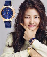 Đồng hồ nữ dây da 6 kim JULIUS JA-844 (xanh dương)