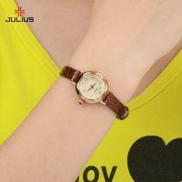 Đồng hồ nữ JULIUS JA-482 dây da (nâu)