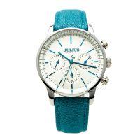 Đồng hồ nữ JULIUS 6 kim JA862 dây da (xanh dương)