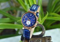 Đồng hồ nữ JULIUS 06 kim JA-850 dây da (xanh dương)