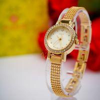 Đồng hồ nữ JULIUS JA804 dây thép (vàng)