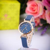 Đồng hồ nữ JULIUS JA854 dây da (xanh dương)