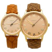 Đồng hồ cặp  JULIUS JA-857 dây da (nâu)