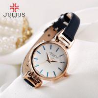 Đồng hồ nữ JULIUS JA925 dây da (xanh đen)
