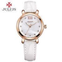 Đồng hồ nữ JULIUS JA945 dây da (trắng)