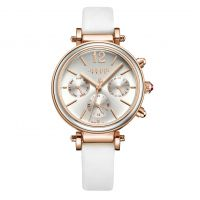 Đồng hồ nữ 6 kim JULIUS JA958 dây da (trắng)