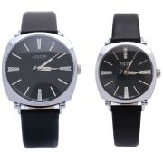 Đồng hồ cặp JULIUS JA388 dây da (đen)