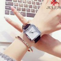 Đồng hồ nữ JULIUS Hàn Quốc day da JA354 (đen)