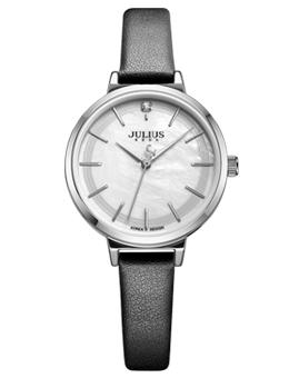 Đồng hồ nữ JULIUS Hàn QUốc JA988 dây da đen