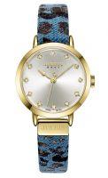 Đồng hồ nữ JULIUS JA976 dây da phối vải (xanh) - size 28