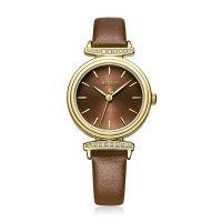 Đồng hồ nữ JULIUS JA1031 dây da nâu - size 29