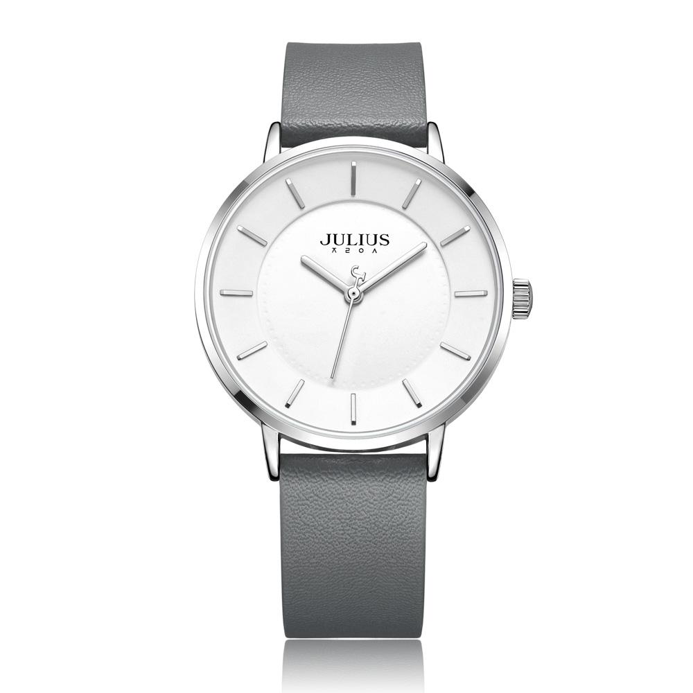 Đồng hồ nam Julius JA998 dây da xám