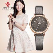 Đồng hồ nữ JULIUS JA-943 dây da xám