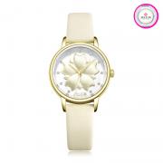 Đồng hồ nữ JULIUS JA-1000B dây da trắng
