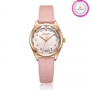 Đồng hồ nữ Julius JA973 dây da hồng