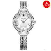 Đồng hồ nữ Julius Ja1043 dây thép bạc