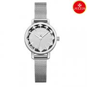 Đồng hồ nữ Julius Ja1063 dây thép bạc