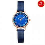 Đồng hồ nữ Julius Ja1063 dây thép xanh đen
