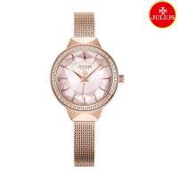Đồng hồ nữ Julius Ja1043 dây thép vàng hồng