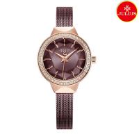Đồng hồ nữ Julius Ja1043 dây thép xám