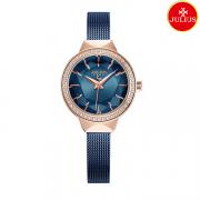 Đồng hồ nữ Julius Ja1043 dây thép xanh